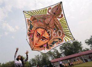 mysuru-dussehra-kite-festival-lord-durga-kite-richa-shah-physeotherapist-fly360