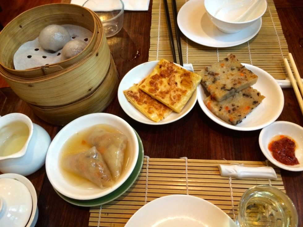 Vegetarian dim sum at Lock Cha Tea House