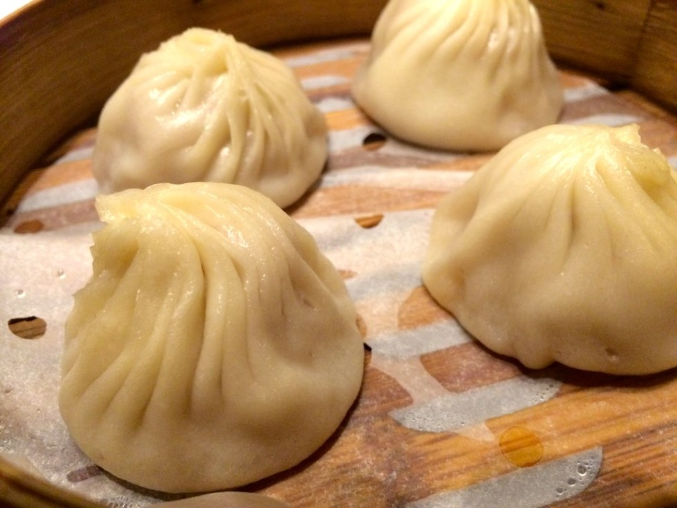 Xiao long bao (soup dumplings) at Crystal Jade La Mian Xiao Long Bao
