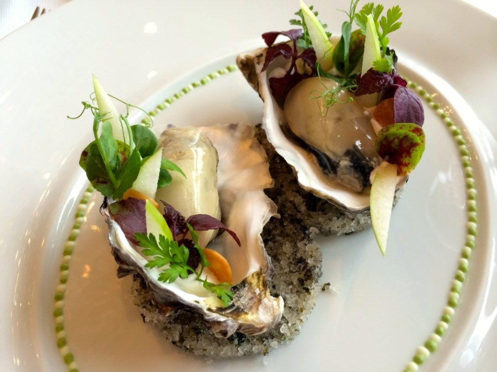 Oysters at Caprice in the Four Seasons Hong Kong