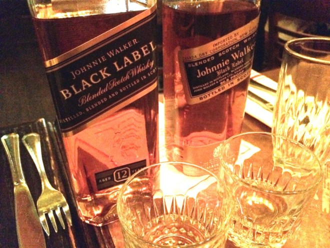 Johnnie Walker Black Now (left) and Then (right)