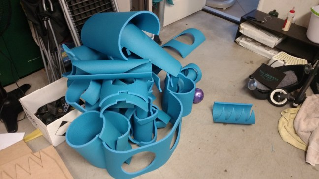 This how everything started. Tons of Yoga Matt foam pieces.