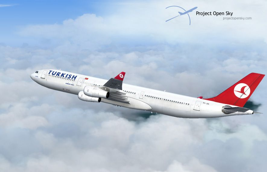 Turkish Airlines Airbus A340311 for FS2004
