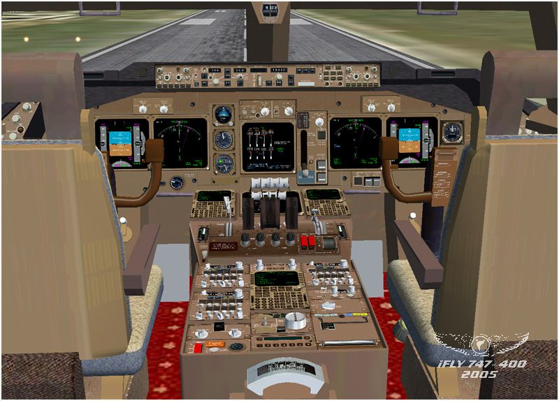 3d Wallpaper Package Ifly Boeing 747 400 For Fsx