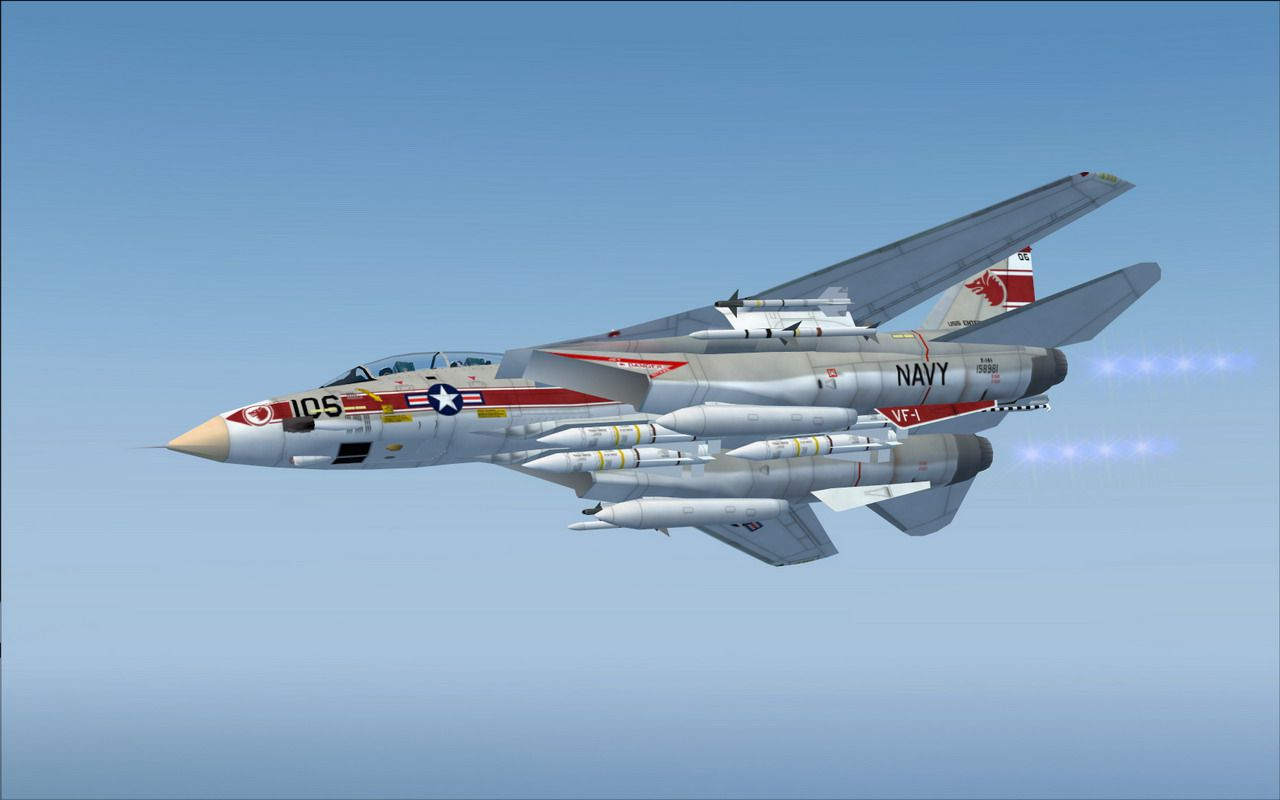 Fsx Wallpaper Hd Us Navy Grumman F 14a Vf 1 For Fsx