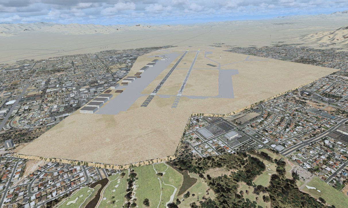Nellis Air Force Base Scenery for FSX