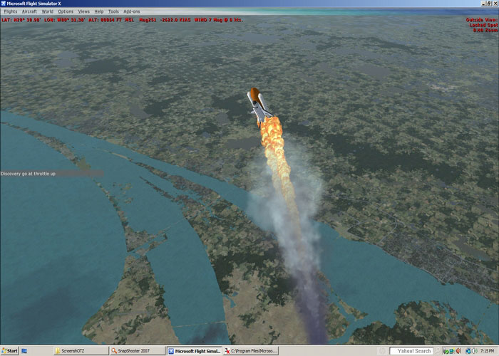 Space Shuttle Launch Mission For FSX