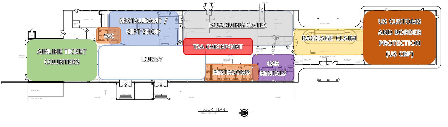 hight resolution of passenger terminal
