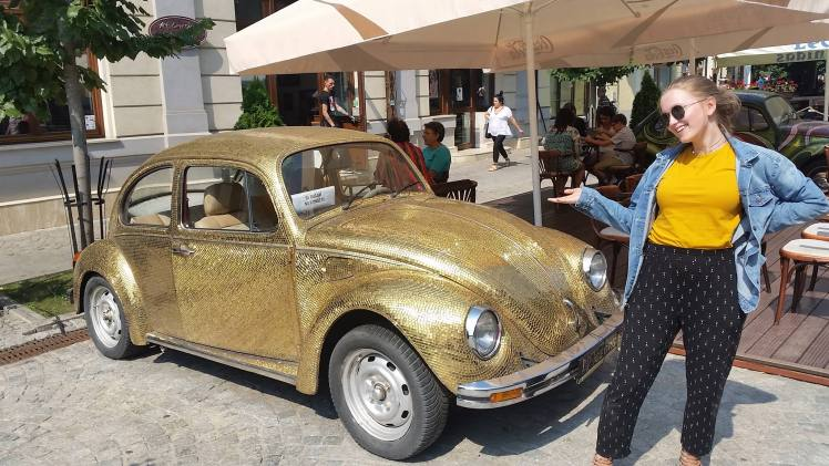 Ana with Gold VW