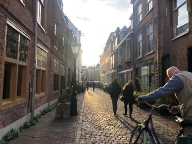 Old biker in Leiden