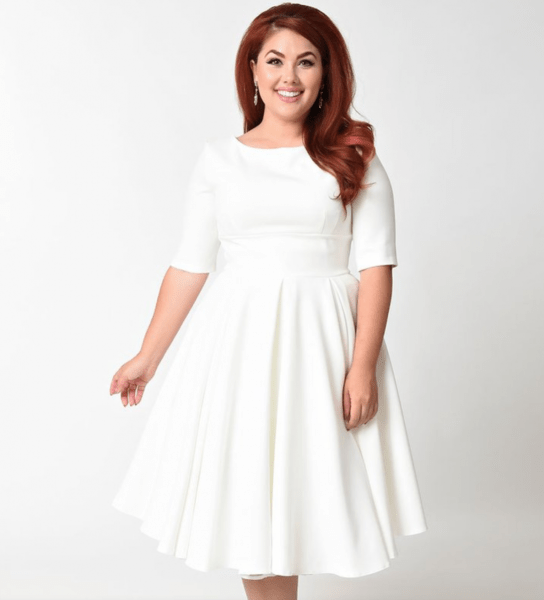 17 Plus Size Little White Dresses | Fly By Night Wedding