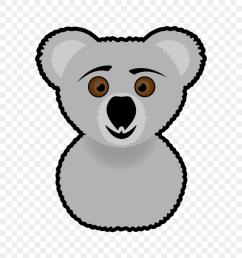 koala clipart black and white [ 840 x 937 Pixel ]