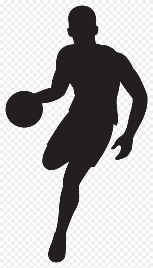 small resolution of basketball player silhouette clip art gallery football player clipart free