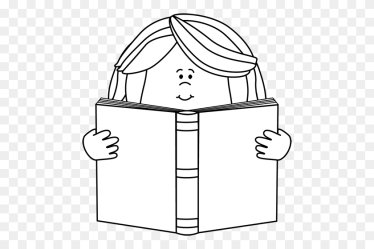 Black And White Girl Reading A Book Clip Art School Clipart Black And White Stunning free transparent png clipart images free download