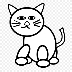 Black And White Kitten Clip Cute School Clipart Stunning free transparent png clipart images free download