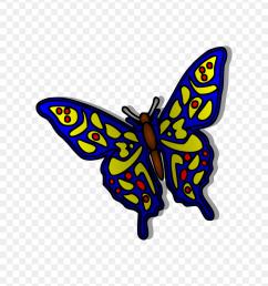 blue butterfly clip art butterfly clipart png [ 840 x 960 Pixel ]