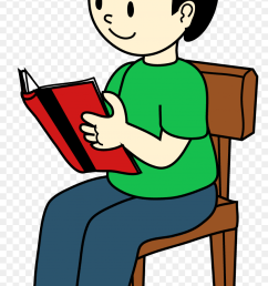 boy sitting on chair reading free furniture clipart [ 840 x 1407 Pixel ]