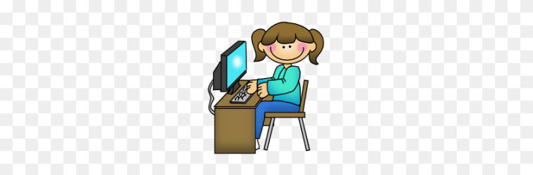 Clip Art Computer Student Using Vector Image Teacher Working With Students Clipart Stunning free transparent png clipart images free download