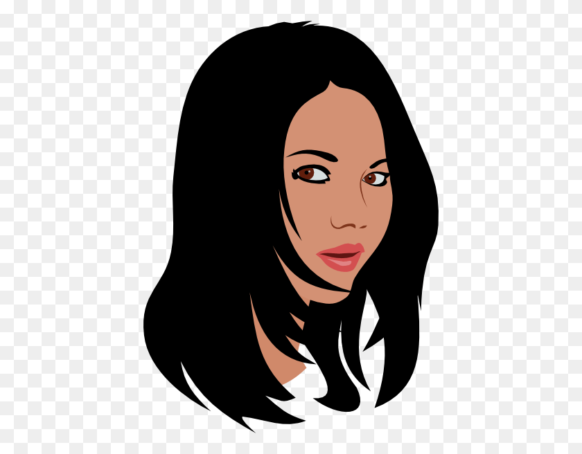clipart girl doing there