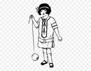 little clipart boy outline standing printable clip