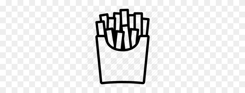 Download French Fries Outline Clipart Mcdonald's French