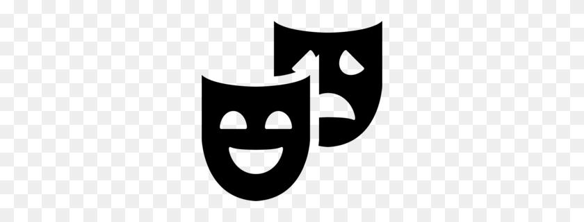 Theatre Masks Clip Art - Drama Mask PNG