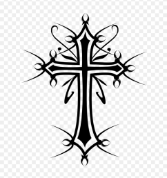drawn cross black and white crucifix clipart black and white [ 840 x 1162 Pixel ]