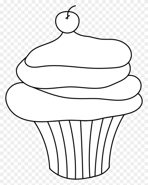 small resolution of drawn cupcake clip art line muffin clipart free