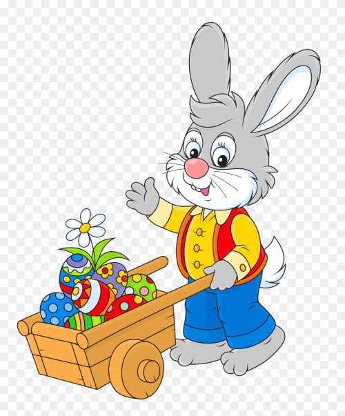 small resolution of easter bunny with egg cart png yard sale clip art free