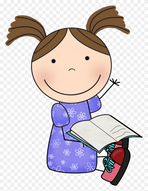 small resolution of freeuse download girl and teacher read girl reading book clipart