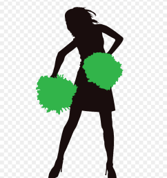 600x1100 personalised party bag cheerleader silhouette png [ 840 x 1160 Pixel ]
