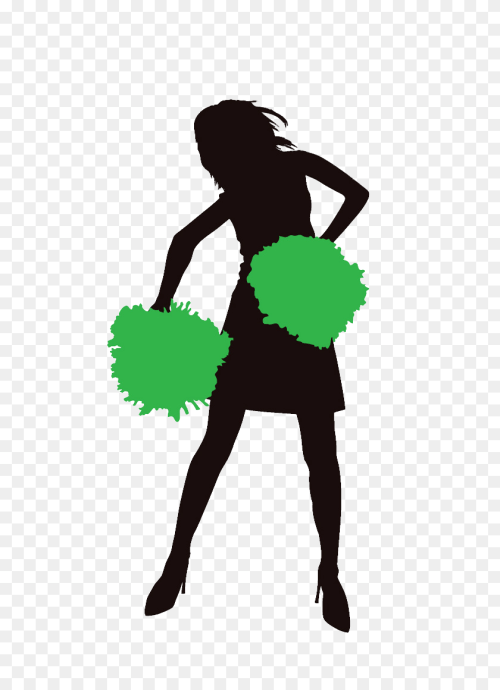 small resolution of 600x1100 personalised party bag cheerleader silhouette png