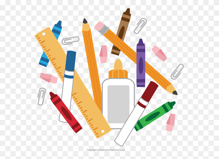 School Supplies Clipart Transparent Crafts And Arts Preschool Snack Time Clipart Stunning Free Transparent Png Clipart Images Free Download