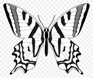 Simple Black And White Butterfly Clipart Simple Butterfly Clipart Stunning free transparent png clipart images free download