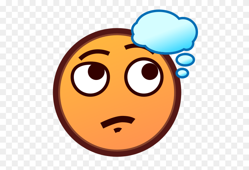 thinking face emoji for