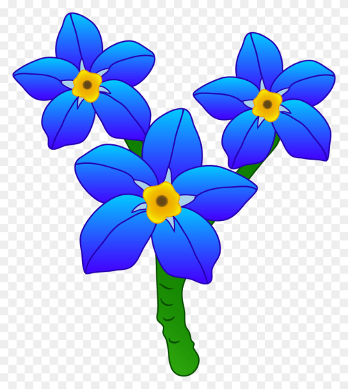 small resolution of three forget me not flowers not clipart