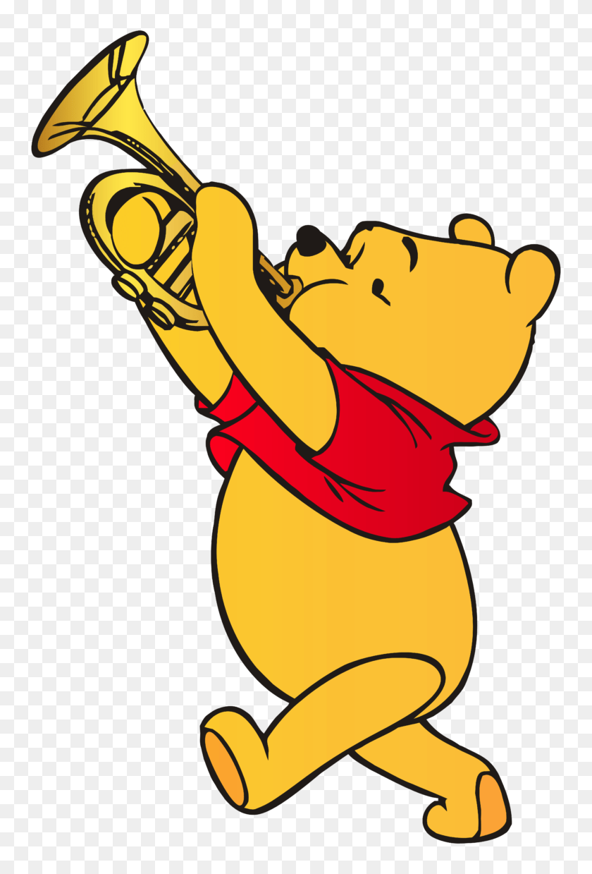 hight resolution of winnie the pooh playing trumpet clip art web clipart american football player clipart