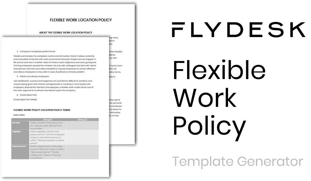 Generate a custom flexible work policy template for your