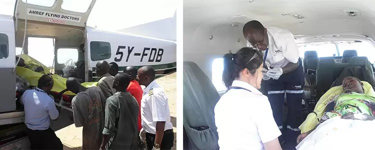AMREF Flying Doctors Evacuation Of 18 Year Old From Illeret To Wamba