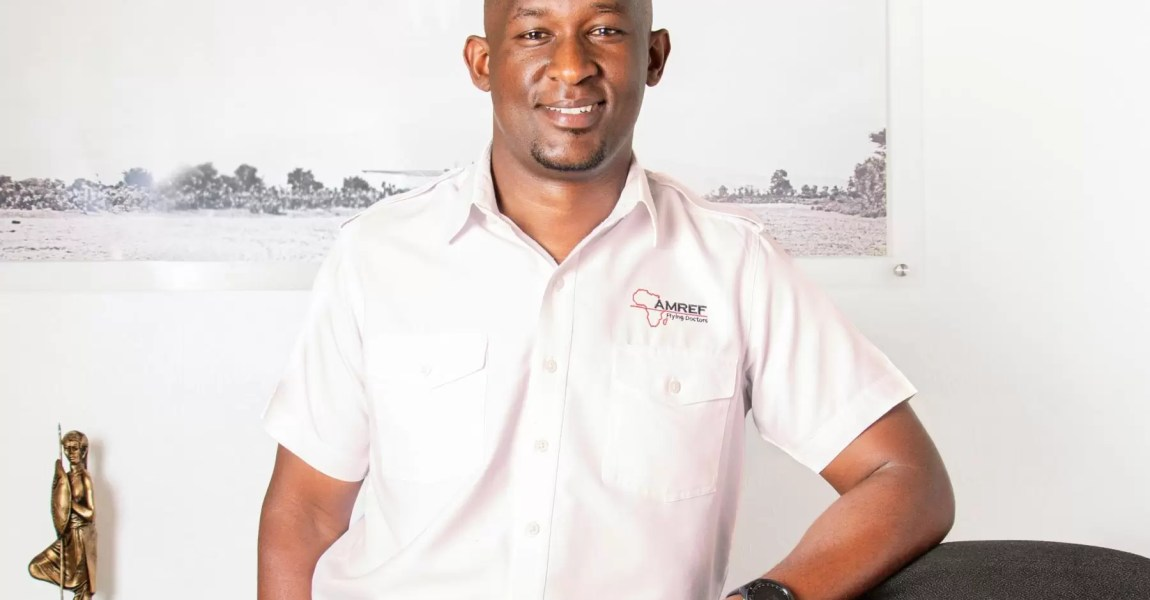 Stephen Gitau, the Chief Executive Officer for AMREF Flying Doctors