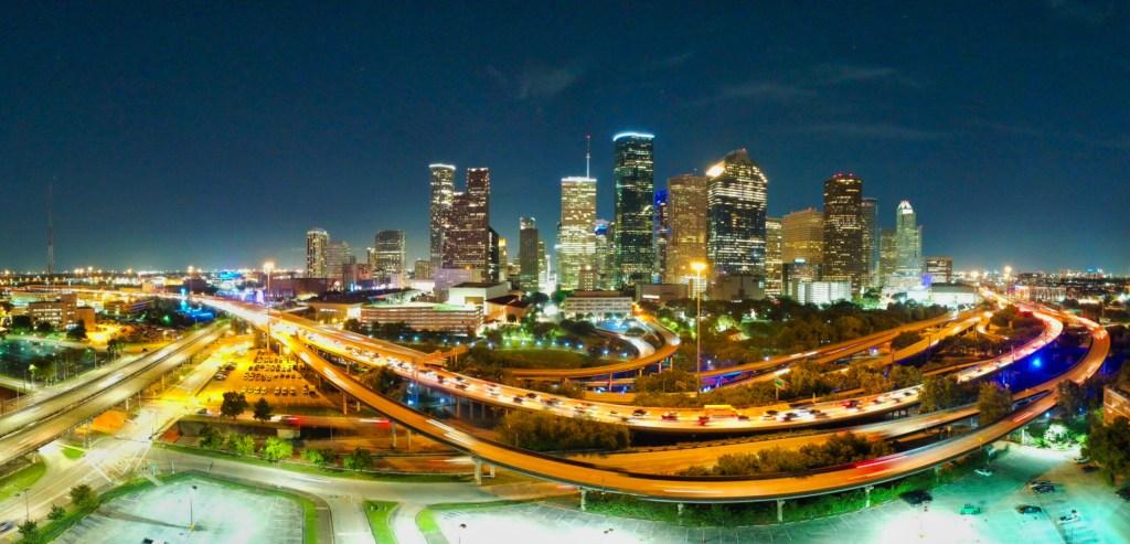 DJI Spark Pano of Downtown Houston