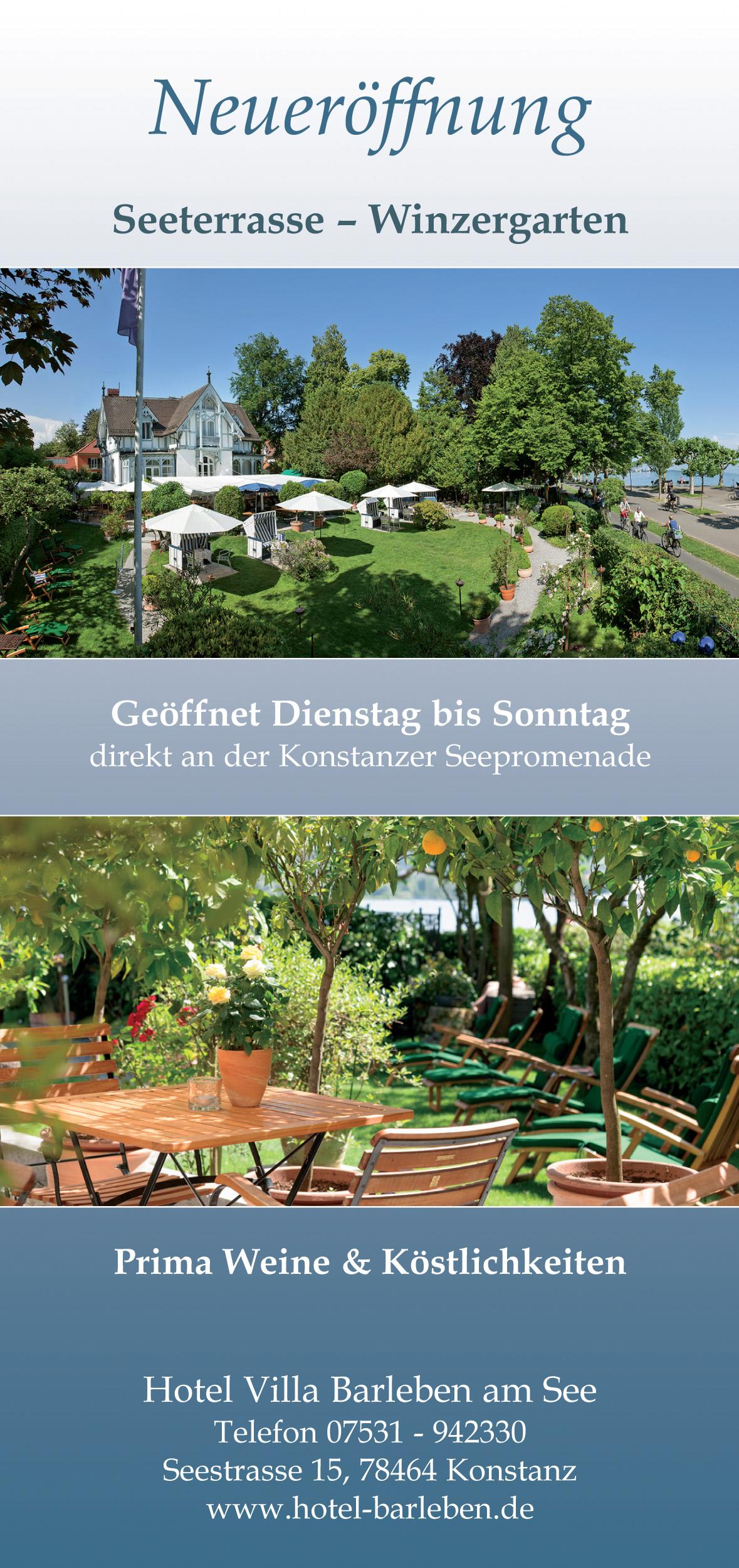 Restaurant Winzergarten Konstanz Seeterrasse