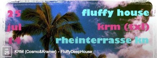 fluffy house / Freitag / 25.7.14 / Rheinterrasse / Konstanz