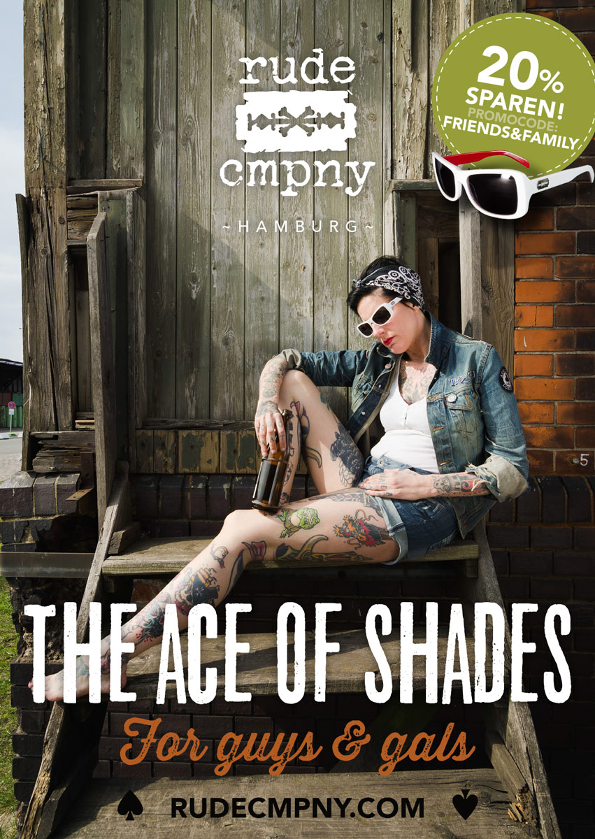 rude cmpny Eye Ware – Sun Glases 20 % Discount on:  www.rudecmpny.com