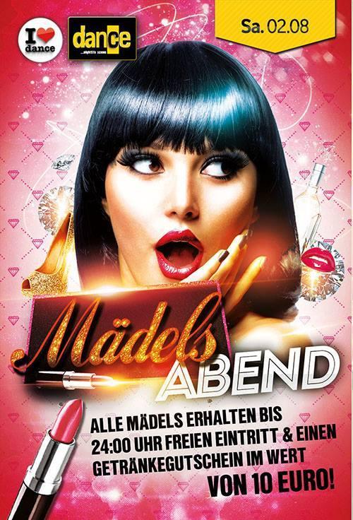 Mädels-Abend Sa. 2.8.14 – Dance – Konstanz Alle Mädels erhalten bis 24:00 Uhr Freier ...