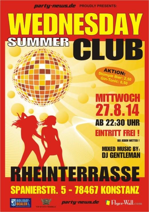 Wednesday Summer Club – Mi.20.8.14 – Rheinterrasse – Konstanz