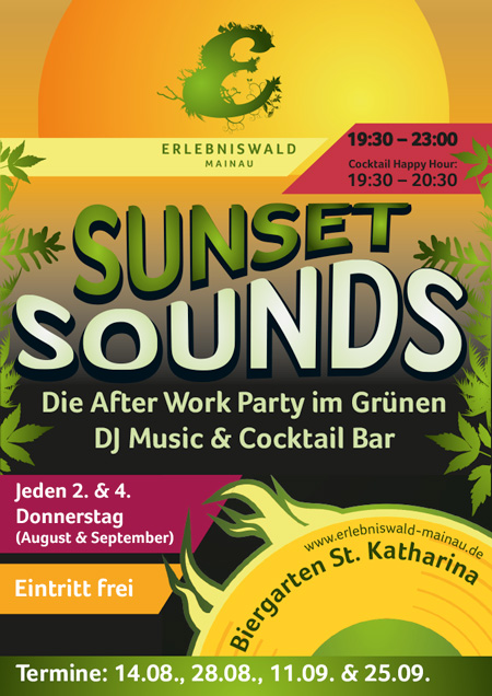Sunset Sounds – Do 11.09.2014 – Biergarten St. Katharina – Mainau – Konstanz