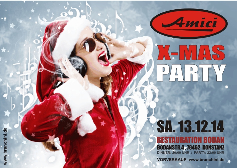 AMICI – X-Mas Party – Sa.13.12.14