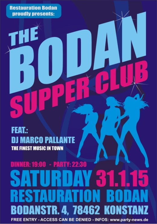 The Bodan Supper Club – Sa.31.1.15 – Bodan – Konstanz
