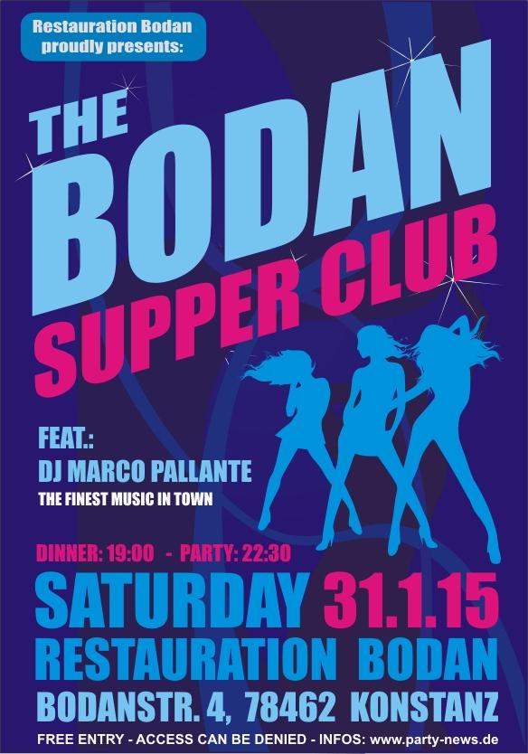 The Bodan Supper Club – Sa.31.1.15 – Bodan – Konstanz